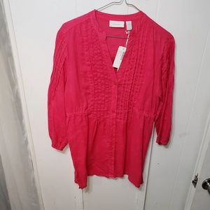 3/4 Sleeve Pink Blouse